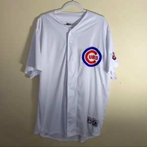 MAJESTIC CUBS All White XXL Jersey